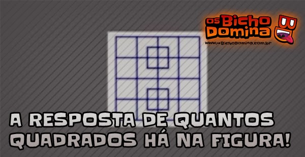 Quantos quadrados há na figura