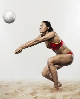 Beach Volleyball Player Xue Chen