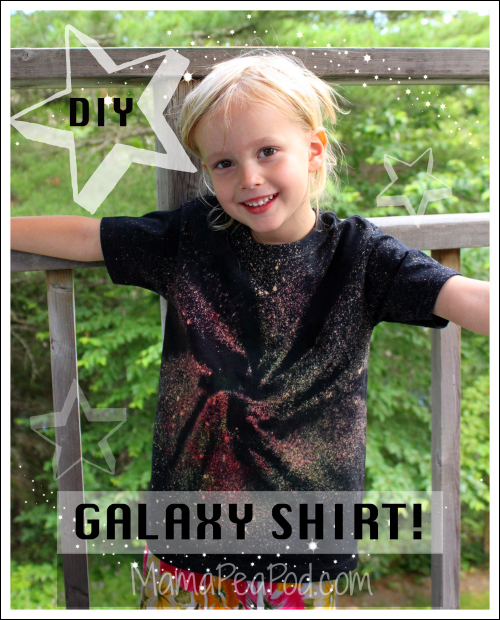 Pin it! Kid-Made DIY Galaxy Shirts!
