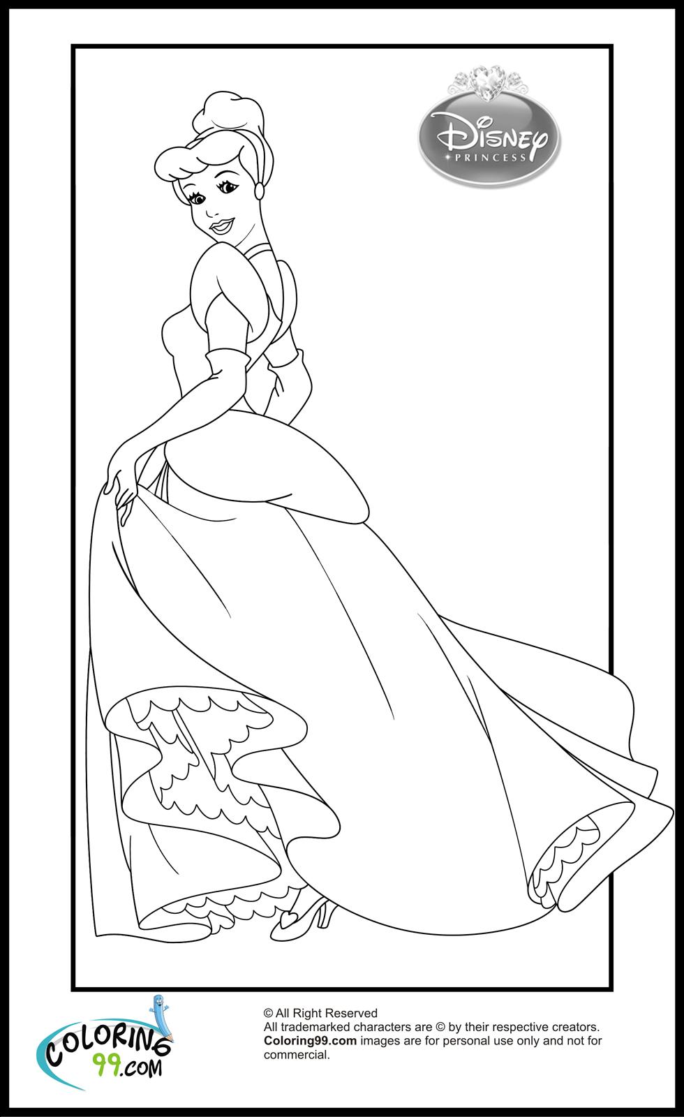 cinderella coloring pages