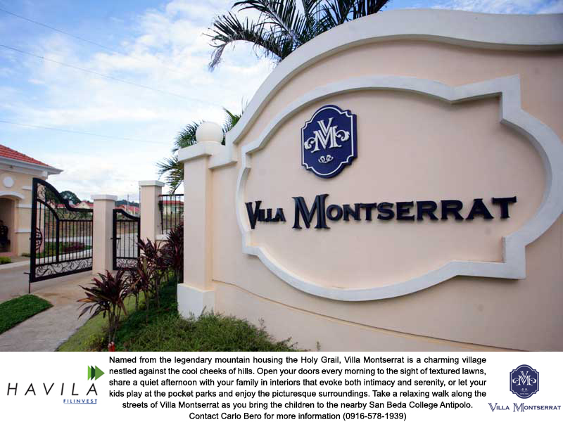 Villa Montserrat 3, Affordable, Overlooking Houses and Lots for Sale in Taytay, Rizal, Philippines
