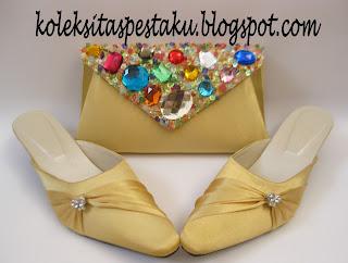 Slop Model Terbaru Gold Cantik Mewah