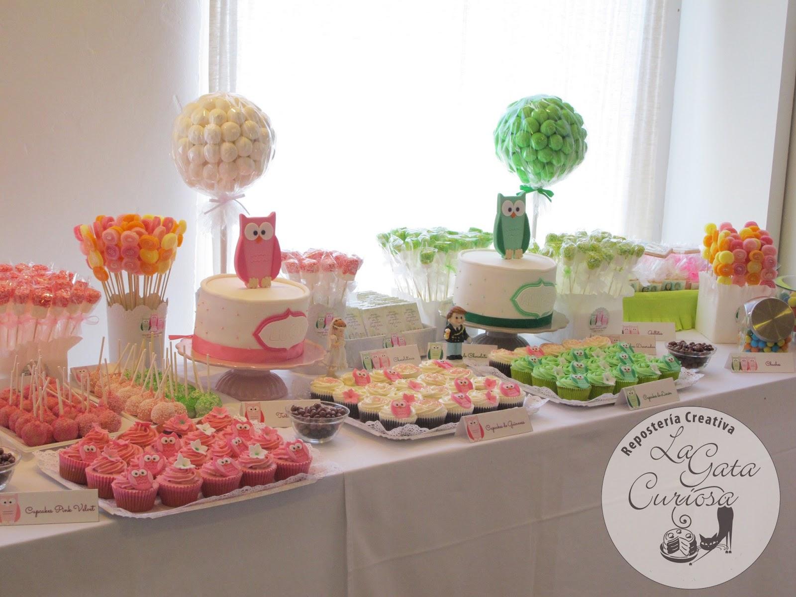 La gata curiosa mesa dulce para comunion angel lucia y el for Mesas de dulces para bodas precios