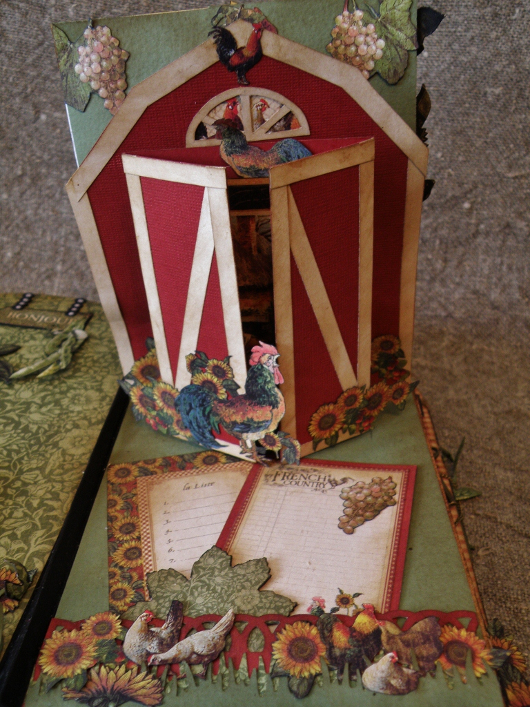 annes papercreations g45 french country mini album and bird cage. Black Bedroom Furniture Sets. Home Design Ideas