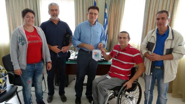 Συνάντηση Πέτροβιτς με τον Γ.Γ. της Εθνικής Αθλητικής Ομοσπονδίας Ατόμων με Αναπηρία
