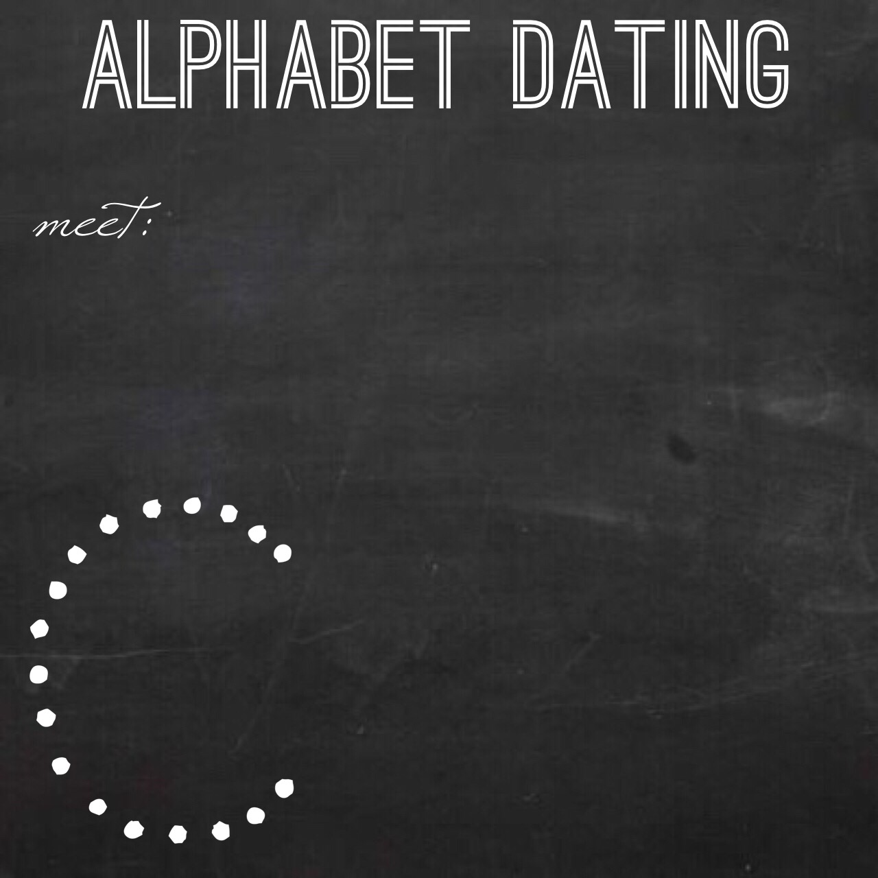 dating alphabet
