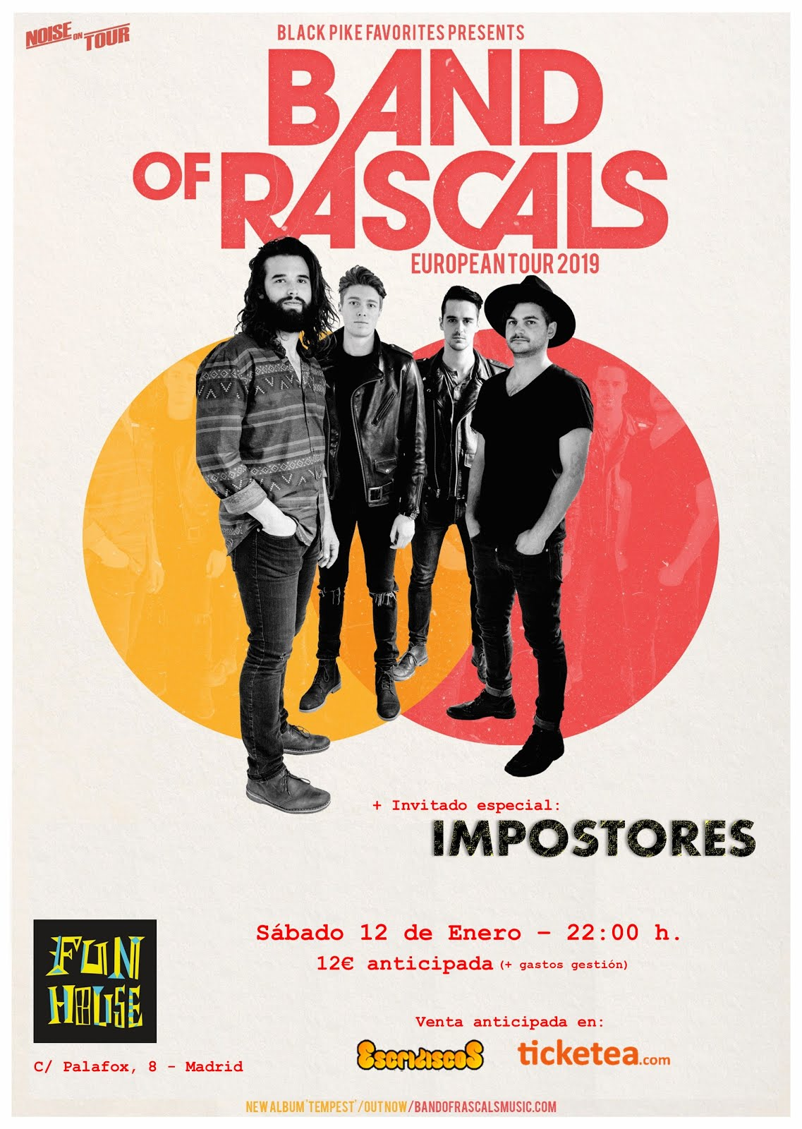 Band Of Rascals + Impostores - 12/01/2019 Fun House Madrid