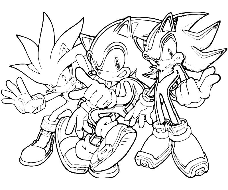 Sonic Generations Silver The Hedgehog Team Surfing Silver The Hedgehog Coloring Pages