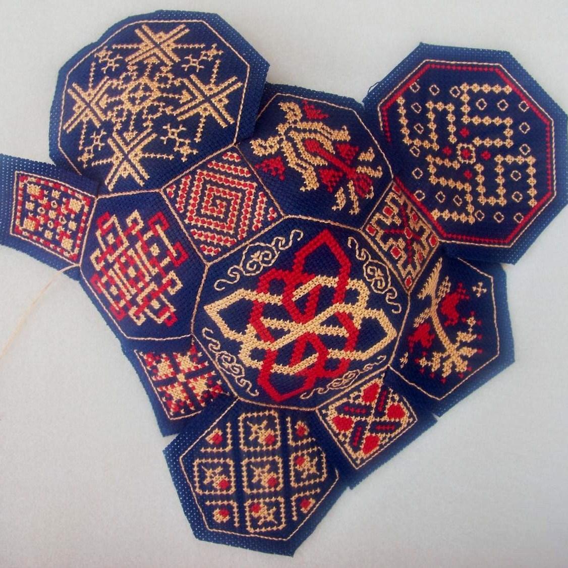 Схема вышивки квакеров 120