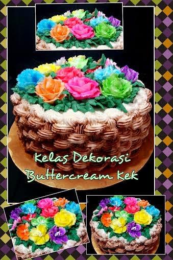 Kelas Dekorasi  Kek Butter cream DIY RM380 - 2 Jenis buttercream