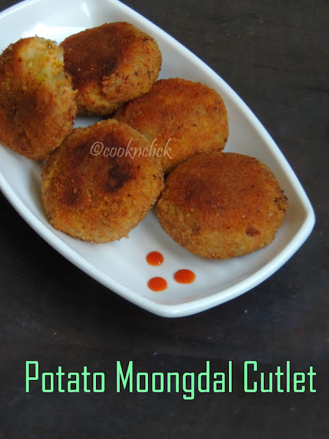 Vegan Dal Cutlet, Potato Moongdal Cutlet