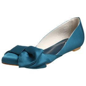 blue flat wedding shoes big bow wedding shoes design