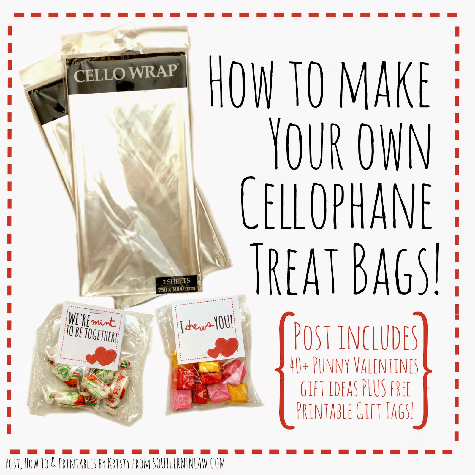 How to make your own Cellophane Treat Bags - DIY Cellophane Treat Bags with Iron