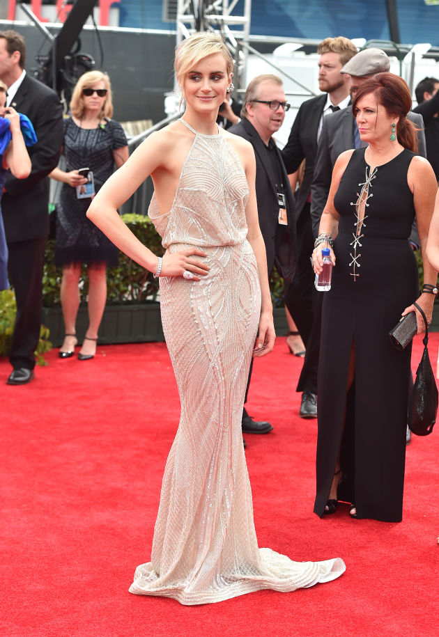 Taylor Schilling in Zuhair Murad at the Emmy Awards