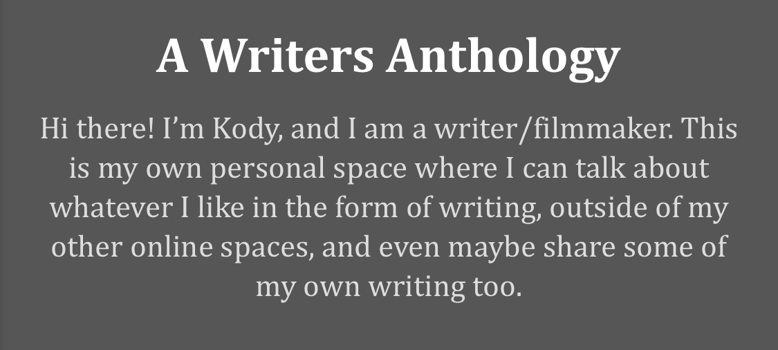 A Writers Anthology