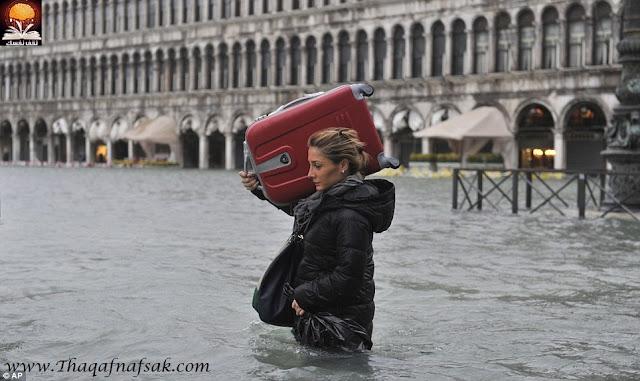 بالصور المدينة العائمة البندقية تغرق في الفيضانات !!