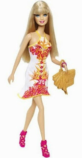 Barbie-Fashionista-White-Floral-Dress