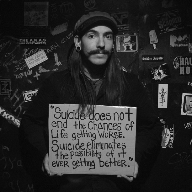 Carlos Enrique Navarro: Suicide does not end the chances of life getting worse, suicide eliminates the possibility of it ever getting better.