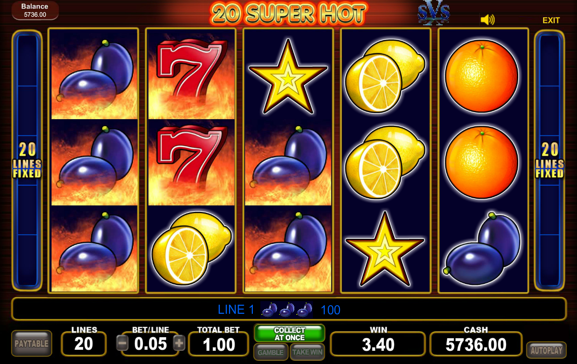 20 super hot slot machine