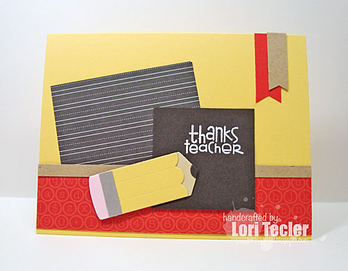Thanks Teacher card-designed by Lori Tecler/Inking Aloud-stamps and dies from Paper Smooches