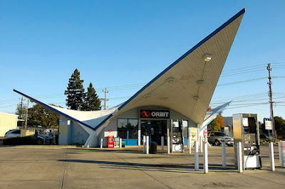 Vintage Orbit Gas Station