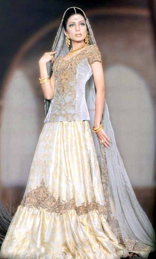 Pakistani bridal dresses 2011 bridal makeup for Online pakistani wedding dresses