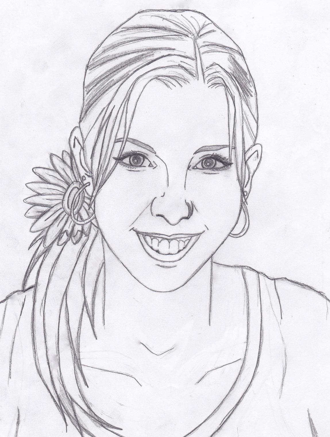 Self portrait sketch 1