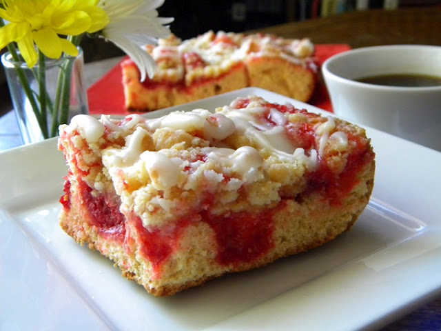 ... Easy Cherry Streusel Coffee Cake for Mother's Day from Cleo Coyle