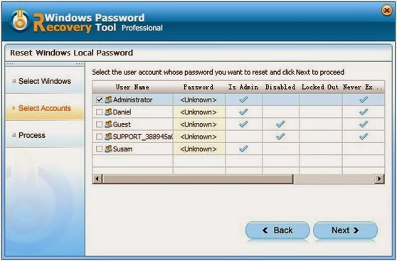 recover forgotten Windows 7 Password