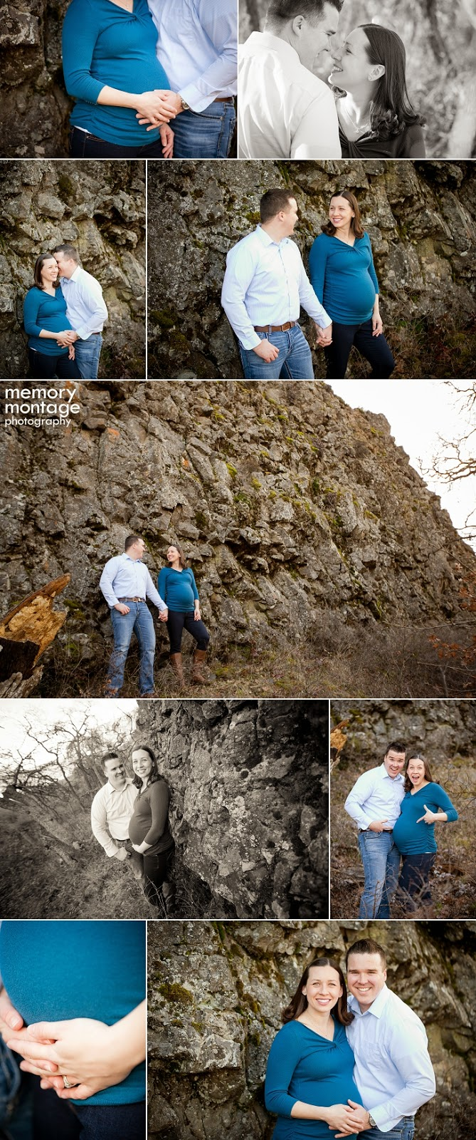 Yakima Area Family Photographer Memory Montage Maternity Session