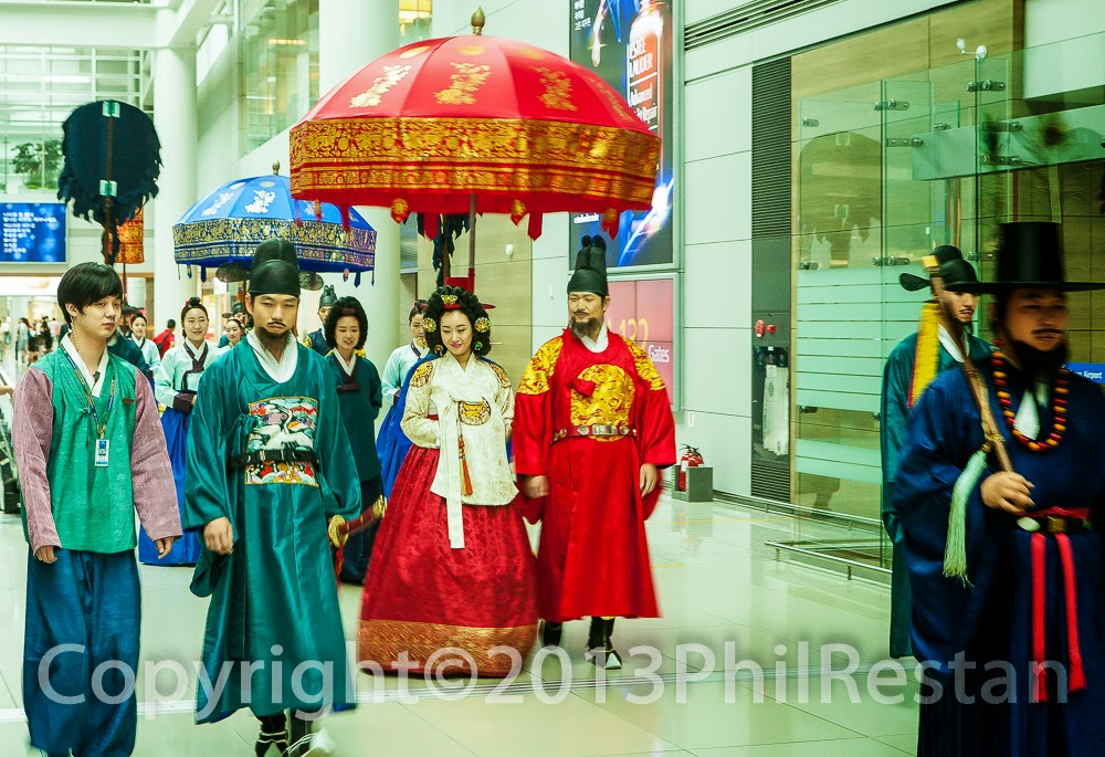 Traditional Korean Cultural Ceremony at Incheon airport, s Korea