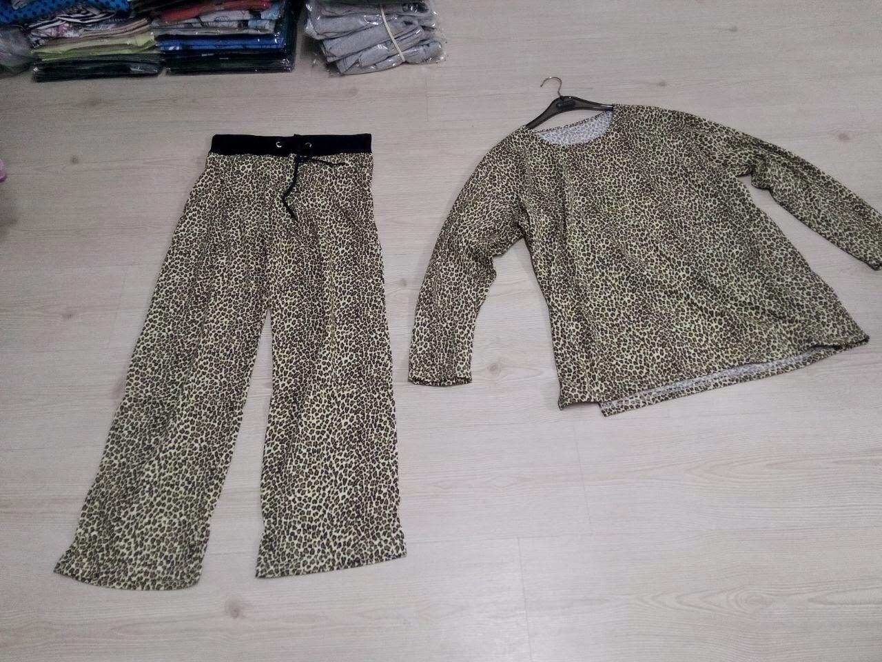 toptan leopar desenli kışlık bayan giyim ürünleri toptan satışı
