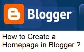 How to Create a Homepage in Blogger : eAskme