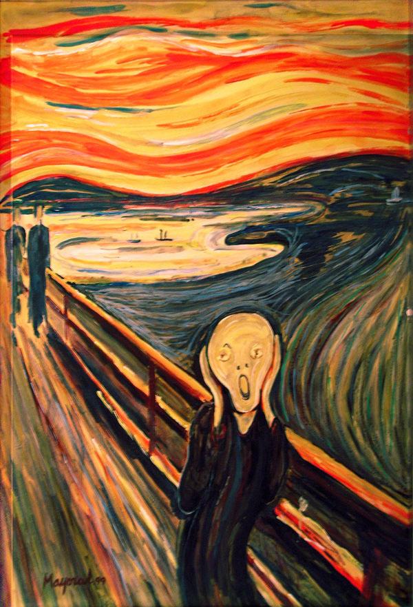 the scream van gogh original