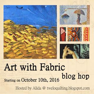 Art with fabric blog hop