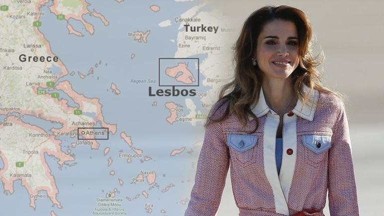 Την Μ. Δευτέρα θα επισκεφθεί τη Λέσβο η υπέρμαχος της ισλαμοποίησης βασίλισσα της Ιορδανίας
