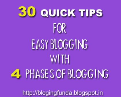4 Phases of Blogging to Make Blogging Easier by BloggingFunda