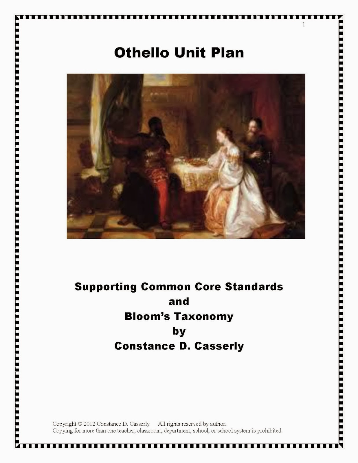 Othello Unit Plan Cover