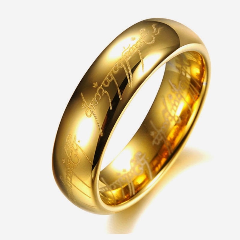 Titanium Wedding LOTR Lord of the Rings Engagement Multiple Sizes