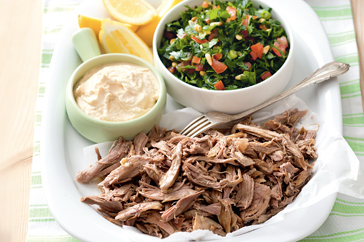 Lamb With Hummus And Tabouli Platter Recipe