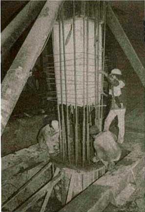 Ligação do tubulão com pilar