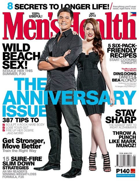 Bea Alonzo and Dingdong Dantes Together in Men's Health Cover (May 2013)