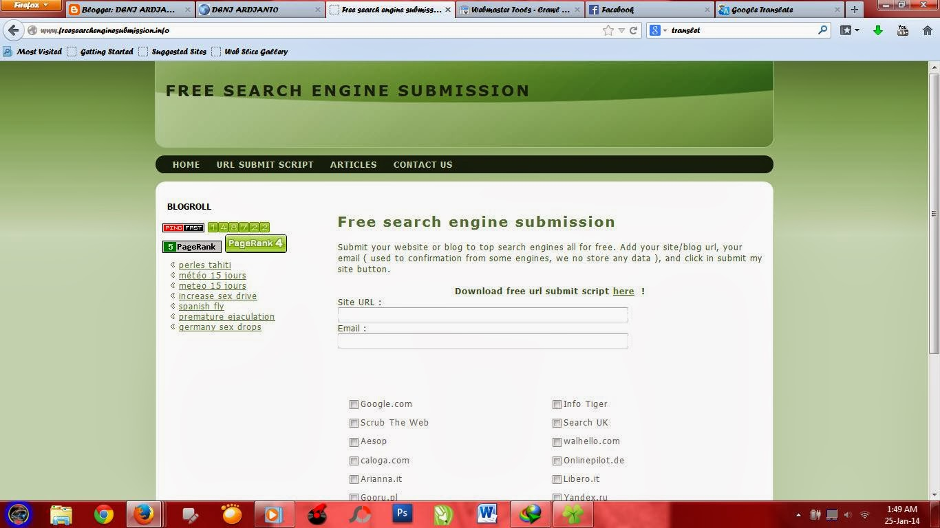 Mendaftarkan situs ke search engine | Hacke7
