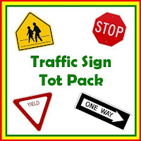 Universal image with printable traffic sign