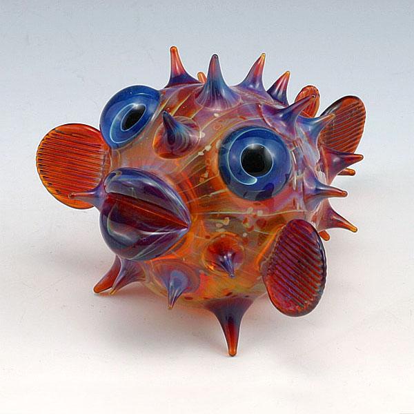 09-Pufferfish-Scott-Bisson-Glass-Sea-and-Land-Animals-www-designstack-co