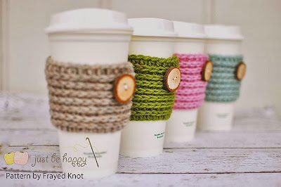 free crochet pattern coffee cup sleeve