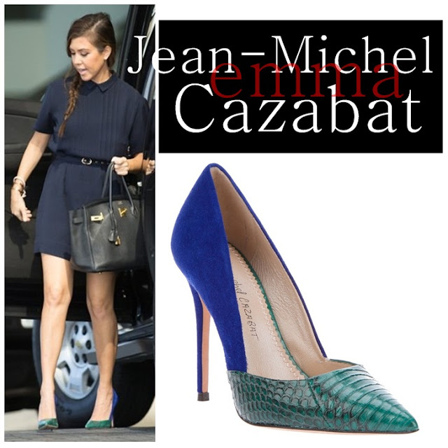 Kourtney Kardashian wearing Jean-Michel Cazabat's Emma pumps