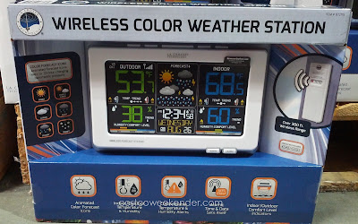 Get current weather conditions with the La Crosse Wireless Color Weather Station