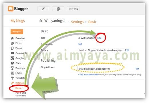 Gambar: Mengedit nama blog dan deskripsi blog di blogger
