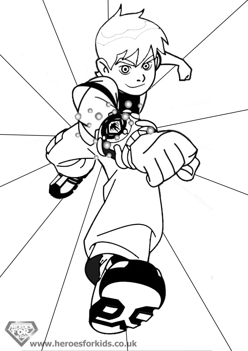 Ben Ten Omniverse Coloring Pages